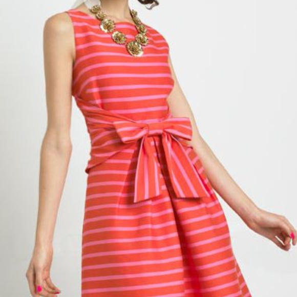 cbe72bd03c kate spade Dresses   Skirts - Kate Spade Jillian Summer Orange Striped Dress  6